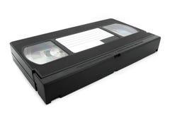 Cinta del VHS sobre blanco Imagenes de archivo