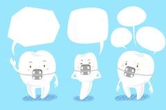 Cinta do dente com bolha do discurso Imagens de Stock