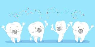 Cinta do desgaste de dente dos desenhos animados Fotos de Stock Royalty Free
