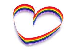 Cinta en forma de corazón del arco iris fotografía de archivo libre de regalías