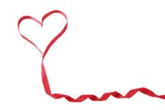 Cinta en una forma de corazón Fotografía de archivo libre de regalías