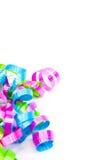 Cinta encrespada colorida, vertical Imagen de archivo libre de regalías