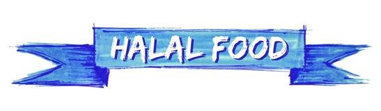 cinta halal de la comida stock de ilustración