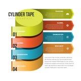 Cinta Infographic del cilindro Foto de archivo libre de regalías