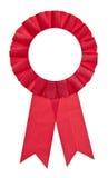 Cinta justa roja del ganador Imagen de archivo libre de regalías