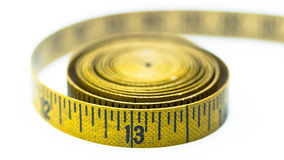 Cinta métrica amarilla del vintage Imagen de archivo
