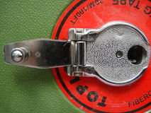 cinta métrica de la manija Foto de archivo
