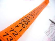 Cinta métrica de la personalización Foto de archivo libre de regalías