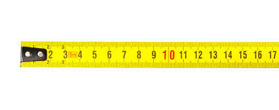 Cinta métrica en centímetros Fotos de archivo