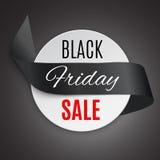 Cinta negra de viernes stock de ilustración