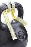 Cinta negra del peso y de los números Imagen de archivo libre de regalías