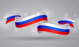 Cinta o bandera rusa de la bandera Día del símbolo de Rusia Foto de archivo libre de regalías