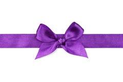 Cinta púrpura con el arco Fotografía de archivo libre de regalías