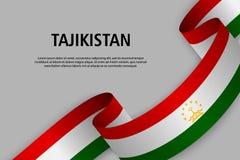 Cinta que agita con la bandera de Tayikistán libre illustration