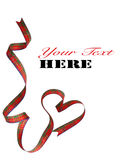 Cinta roja aislada del corazón fotografía de archivo libre de regalías