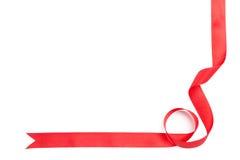 Cinta roja brillante para el actual embalaje Fotografía de archivo