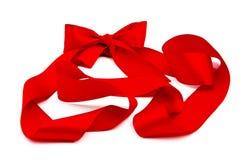 Cinta roja con el arqueamiento Foto de archivo libre de regalías
