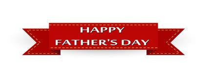 Cinta roja con el día de padre feliz de la inscripción