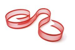 Cinta roja del regalo Foto de archivo