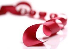 Cinta roja del satén Imagen de archivo libre de regalías