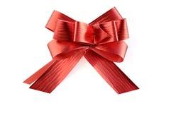 Cinta roja en blanco con el camino de recortes. Imagenes de archivo
