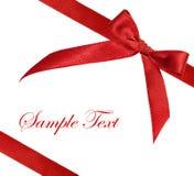 Cinta roja en el fondo blanco Foto de archivo libre de regalías