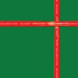 Cinta roja en el papel de color verde para el festival Imágenes de archivo libres de regalías