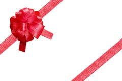 Cinta roja para la Navidad imágenes de archivo libres de regalías