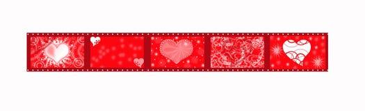 Cinta roja para la tarjeta del día de San Valentín stock de ilustración