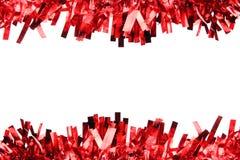 Cinta roja por la Navidad o el Año Nuevo. Fotos de archivo