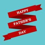 Cinta roja y el día de padre feliz de las palabras