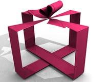 Cinta rosada 3d Foto de archivo libre de regalías
