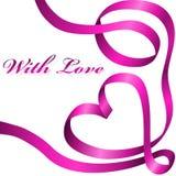 Cinta rosada de la decoración Foto de archivo