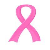Cinta rosada del conocimiento del cáncer de pecho ilustración del vector