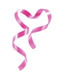 Cinta rosada del corazón aislada en el fondo blanco Fotos de archivo