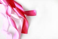Cinta rosada del satén Foto de archivo libre de regalías