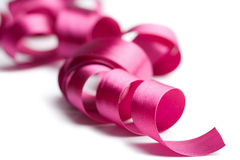 Cinta rosada hermosa aislada Foto de archivo libre de regalías