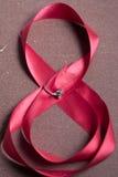 Cinta rosada hermosa con el anillo foto de archivo libre de regalías