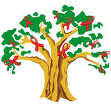Cinta SIDA del árbol Imagen de archivo libre de regalías