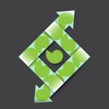 Cinta texturizada papel con las flechas Fotos de archivo libres de regalías