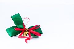 Cinta verde con la alarma del oro Imagen de archivo libre de regalías