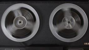 Cinta vieja del rebobinado de la grabadora del carrete almacen de metraje de vídeo