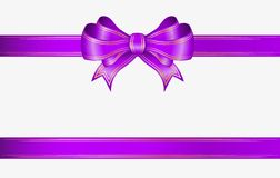 Cinta y arco violetas Fotos de archivo