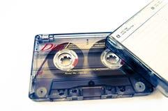 Cinta y casete viejos de la música Fotos de archivo