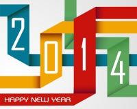 Cintas coloridas de la Feliz Año Nuevo 2014 stock de ilustración