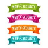 Cintas coloridas de la seguridad del web Vector Eps10 Imagen de archivo libre de regalías