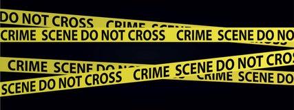 Cintas de la escena del crimen libre illustration