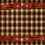 Cintas de la flor de la tela escocesa Foto de archivo libre de regalías