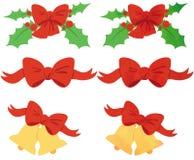 Cintas de la Navidad Imágenes de archivo libres de regalías