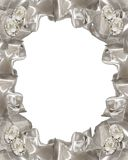 Cintas de los diamantes de la invitación de la boda Imagen de archivo libre de regalías